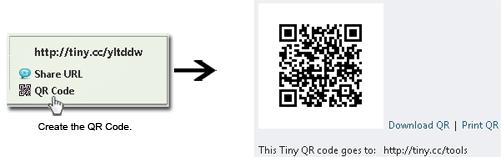 Tiny QR codes.